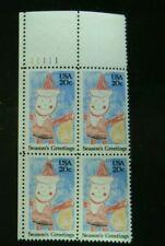 Scott # 2108 - US Plate Block Of 4 - Christmas Santa Claus - MNH - 1984