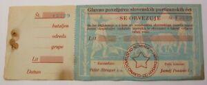 SLOVENIA (Partisan money bond) Lit 1942 - 47