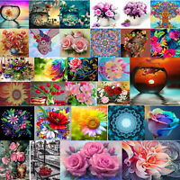 5D DIY Diamond Painting Flower Cross Stitch Embroidery Rhinestones Craft Kit