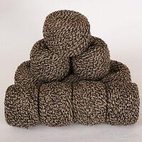 *500g*WOOL BLEND YARN* Aran (US Worsted) Black.Brown.Beige.Tweed marl.knitting.