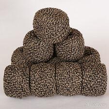 *500g*WOOL BLEND YARN* Aran/DK. Black.Brown.Beige.Tweed marl.double knitting.