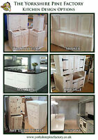 Traditional Solid Pine Free standing Base Kitchen units assembled ready to fit