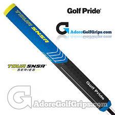 Golf Pride Tour SNSR Straight 104CC Midsize Non-Taper Putter Grip - Black / Blue