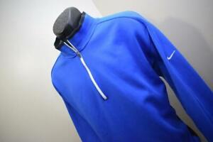 Nike Golf Jacket Therma Fit Tour Performance Blue Zip Neck Athletic Mens 2XL XXL