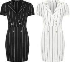 Party/Cocktail Stripes Machine Washable Regular Size Dresses for Women