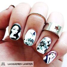4 Patterns/sheet Cartoon Girl Manicure Water Decals Nail Art Transfers Stickers