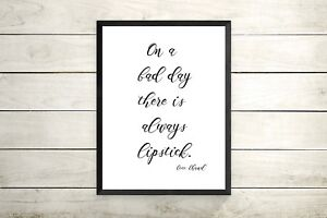 Coco Chanel fashion quote A4 Print - gift-birthday present for girls