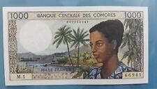 1984 COMOROS 1000 Francs UNC [P-11a]