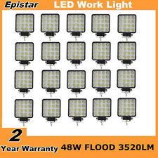 20X 48W LED Work Light Flood Lamp Off-road Driving Truck SUV UTE Car Boat Square