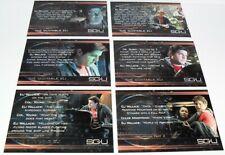 RITTENHOUSE STARGATE UNIVERSE THE QUOTABLE ELI LOT 6 CHASE CARDS #Q2,3,4,6,7,9