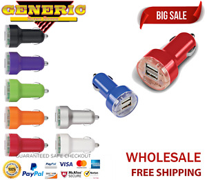 20/50x Wholesale Lot 5V 3.1A Dual USB 2 Port Universal Car Charger DC Adapter