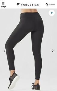 Fabletics High Waisted Powerhold 7/8 Size Large 10 BNWT RRP £62