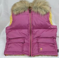 Hollister Medium Purple down lined sport vest lined with yellow