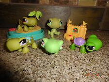 LPS Littlest Pet Shop Turtle Lot of 5 with Beach & Sandcastle