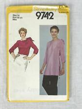 Simplicity Pattern 9742 Shoulder Tie Tunic Bust 36 Boatneck Kimono Sleeves Uncut
