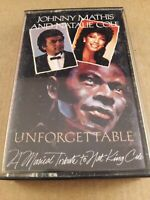 Johnny Mathis & Natalie Cole  : Unforgettable : Cassette Tape Album from 1983