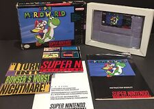 Super Mario World (Super Nintendo SNES) Complete In Box CIB