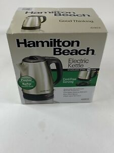 Hamilton Beach 40993E 1.7 L Stainless Steel Electric Kettle Silver Free Shipping
