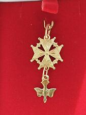 ANCIEN PENDENTIF croix huguenote    OR   18 CARATS  / 750