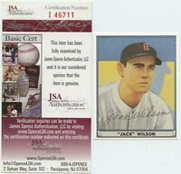1941 Play Ball Reprint Jack Wilson Signed Autographed Card JSA COA Red Sox