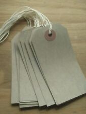 100 x Brown Buff Strung Tags Manilla 96mm x 48mm-Luggage/Gift Tags/Wedding Lable