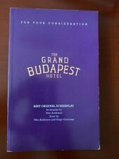 The Grand Budapest Hotel Original Screenplay  For Your Consideration