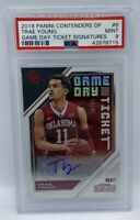 2018 19 Contenders TRAE YOUNG #58/99 Game Day Ticket Signatures Auto PSA 9 MINT