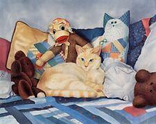 """Among Friends""Framed Ltd. Edition White Cat Print CatmanDrew Drew Strouble"