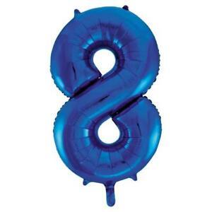 Jumbo Eight Blue Foil Balloon 34''