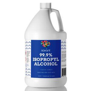 Savant 99% Isopropyl Alcohol - One Gallon (128 Fluid Ounces) - USP Grade