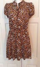 TOPSHOP LEOPARD PRINT TUNIC DRESS UK 10