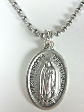 "Our Lady of Guadalupe Medal Pendant Necklace 24"" Ball Chain Gift Box Prayer Card"