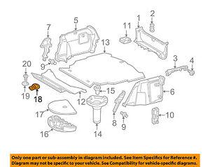 MERCEDES OEM 02-05 C230 Interior-Rear-Anchor 2038600014