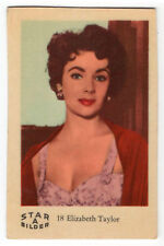 1960s Swedish Film Star Card Bilder A #18 British US Actress Elizabeth Taylor