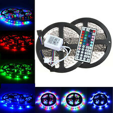 10M 3528 SMD RGB Flexible LED Light Strip 600LEDs +44 Key IR Remote Controller