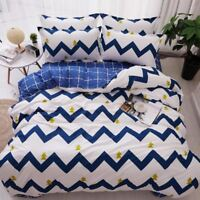 4pcs/set bedspreads Quilted Quilt with Pillowcase King Queen Twin Full Size Duve