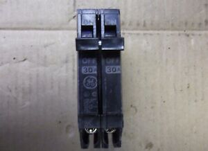 GE THQP THQP230 2 Pole 120/240V 30 Amp Circuit Breaker New Style