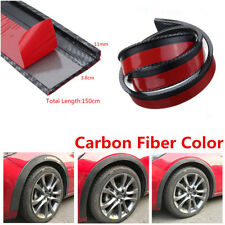 Pair Black Carbon Fibre Color Car Fender Flares Protectors Lip Eyebrow Trim 1.5M