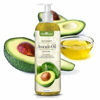 Pure Original Cold-Pressed Avocado Oil 16 oz. Moisturizes Face, Body, Hair, Baby
