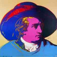 Andy Warhol Goethe red face Poster Kunstdruck Bild 66x66 cm