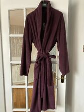 MARKS AND SPENCERS MENS JERSEY HOODED NAVY DRESSING GOWN BNWOT SIZE UK LARGE