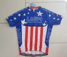 Maillot cycliste bike jersey team usa American flag stars and stripes