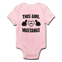 CafePress THIS GIRL LOVES MUSTANGS Body Suit Baby Bodysuit (1634344558)