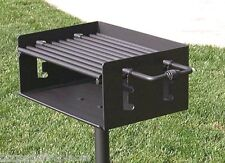 "EasyChef Charcoal Park & Camp Style BBQ Grill 20"" -w/ In Ground Post (No Base)"