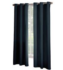 Solaris Room Darkening Thermal Microfiber Curtain Grommet Panel Navy 42 W x 84 L