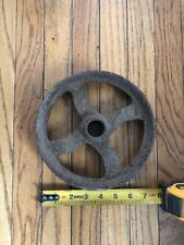 Vintage Cast Iron Flat Belt Pulley 7 1/4�x1 3/4� EngineSteam Saw Mill Hit Miss