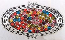 Multi-color Oval Style Stretch Ring Crystal Rhinestone Fashion Jewelry RD52