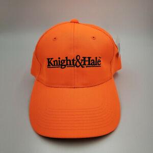 Vtg New Orange Knight & Hale Adjustable Strapback Hunting Turkey Cap Deer Hat