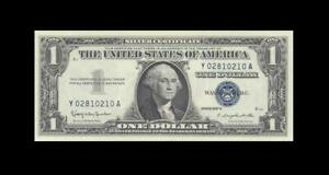 1957-B UNITED STATES SILVER CERTIFICATE $1 **Consecutive 1 of 2** (( GEM UNC ))
