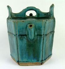 Splendid Antique 18thC Chinese Green Glazed Ceramic Water Pot Jug Pitcher